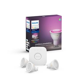8718699629274 Hue Bluetooth set 3xLED žárovka WACA GU10 5,7W 16mil.barev + Bridge + Switch