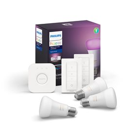 8718699696917 Hue Bluetooth set 3xLED žárovka WACA E27 9W 16mil.barev+Bridge+2xDimmSwitch