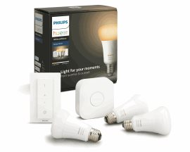 8718699673345 Hue Bluetooth set 3xLED žárovka White Ambiance E27 8,5W 806 lm+Bridge+Switch
