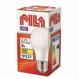 PILA LED 60W A60 E27 WW FR ND LED žárovka 9W 806lm